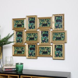 Gold Ornate 12 Multi Photo Frame