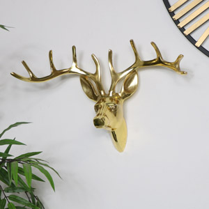 Gold Metal Stags Head