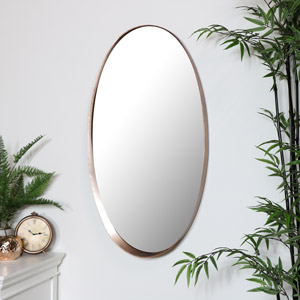 Large Copper Wall Mirror 93cm x 50cm
