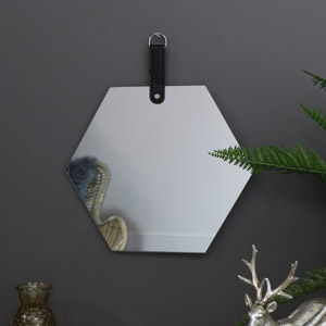 Frameless Hexagon Wall Mirror