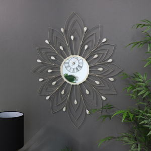 Large Gold Flower Wall Mirror