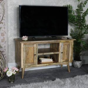 Rustic Natural Wood TV Cabinet - Oslo Range