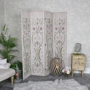 Large Antiqued Folding Room Divider