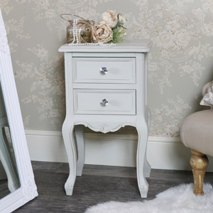 Elise Grey Range- 2 Drawer Bedside Table