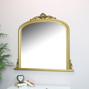 Large Gold Overmantel Wall Mirror 94cm x 104cm