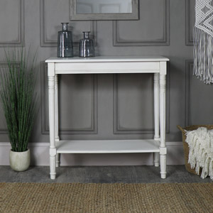 Antique White Console Table