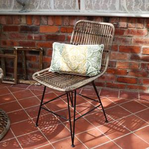 Rattan High Back Garden Dining Chair