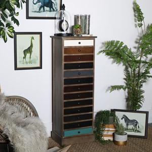 Natural Driftwood 13 Drawer Unit