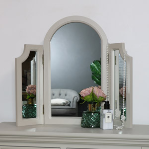Tabletop Triple Vanity Mirror - Daventry Taupe-Grey Range