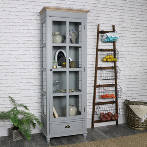 Admiral Range - Glazed Display Cabinet With Drawer