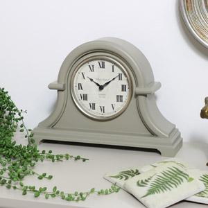 Arched Grey Mantel Clock