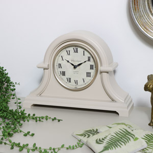 Arched Cream Mantel Clock