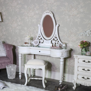 Cream Vintage Dressing Table Set - Limoges Range