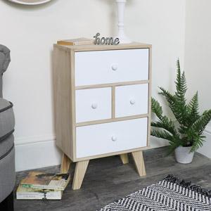 Four Drawer Wooden Storage Unit