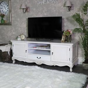 Large Cream TV Cabinet - Limoges Range