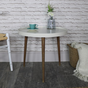 Large Round Ivory Side/Occasional Table - Stockholm Range