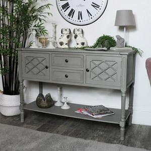 Large Grey Buffet Table/Sideboard - Venice Range