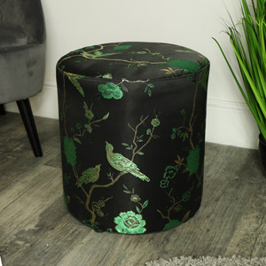 Green & Black Oriental Stool