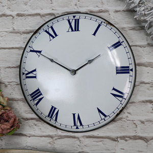 Vintage Wall Clock with Roman Numeral Display