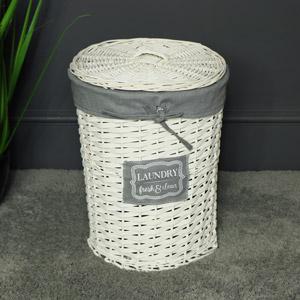 Small Willow Wicker Basket Laundry Hamper
