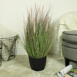 Pretty Potted Artificial Wild Grass