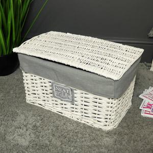 White Willow Wicker Storage Basket