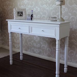 Blanche Range - White 2 Drawer Dressing Table
