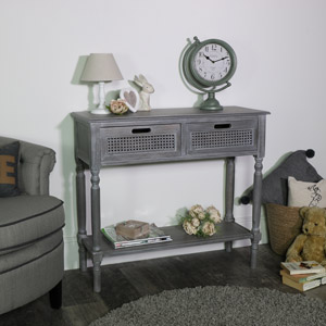 Milan Range - 2 Drawer Console Table