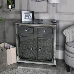 Mirrored Sideboard Storage Cabinet - Verona Range