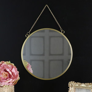 Vintage Gold Round Wall Mirror