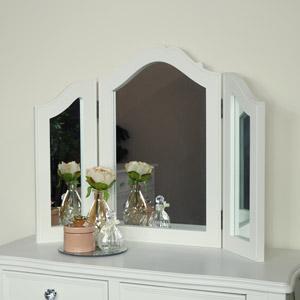 White Tabletop Vanity Mirror - Victoria Range