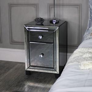 Mirrored Bedside Chest - Verona Range