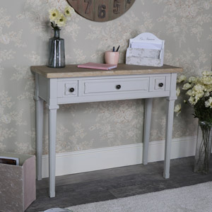 Grey 3 Drawer Console/Hall Table - Stanford Range