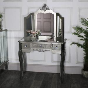 Mirrored Dressing Table and Vanity Mirror - Tiffany Range