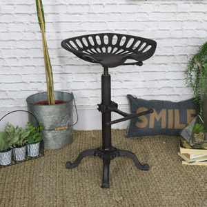Industrial Range - Iron Replica Tractor Seat Bar Stool