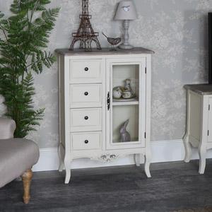 Cream Glazed Cabinet with Storage - Georgette Range