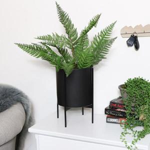Round Black Plant Stand