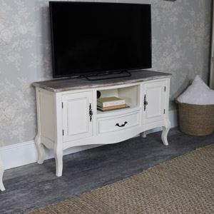 Cream TV/Media Cabinet - Georgette Range