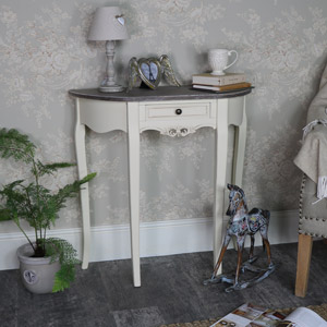 Cream Half Moon Console Table - Georgette Range