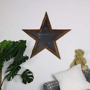 Rustic Wooden Star Chalkboard