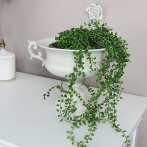 Vintage White Urn