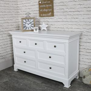 Large White 7 Drawer Chest of Drawers - Daventry White Range
