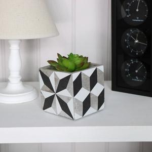 Stone Geometric Plant Pot