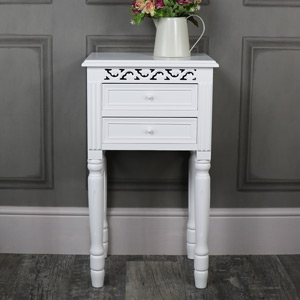 Blanche Range - White 2 Drawer Bedside