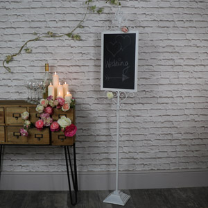 Tall Ornate Freestanding Chalkboard Stand
