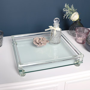 Decorative Square Glass Display Tray