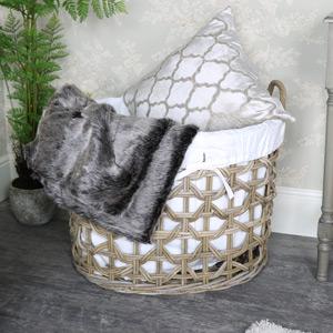 Extra Large Rattan Laundry Storage Basket