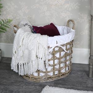Large Rattan Laundry Storage Basket