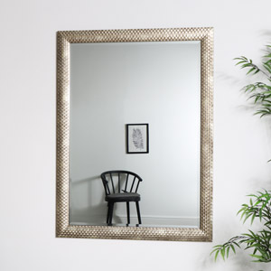 Large Gold Rectangle Deco Mirror  90cm x 120cm