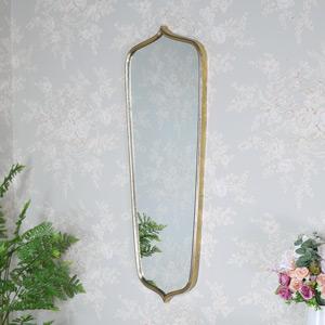 Vintage Antique Gold Wall Mirror 35cm x 99cm